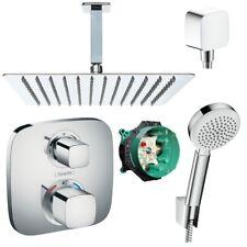 Hansgrohe Ecostat E Thermostat UP Duscharmatur Set Duschteller 30x30cm Duschset