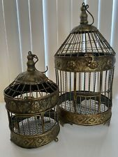 Antique Style Metal Decorative Bird Cage, Wedding decor -10x10x20in,7.5x7.5x13