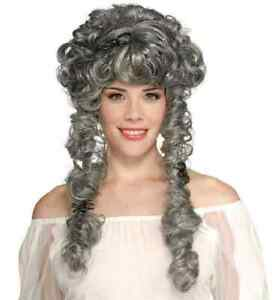 Ghost Bride Wig Victorian Dead Fancy Dress Up Halloween Adult Costume Accessory