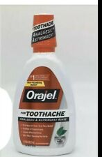 ORAJEL FOR TOOTHACHE ANALGESIC & ASTRINGENT MOUTH RINSE 16 OZ SOOTHING MINT RENS