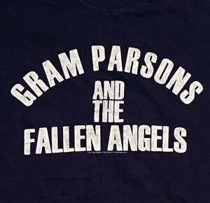 GRAM PARSONS & THE FALLEN ANGELS Blue T-shirt Sz: S