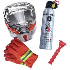 Home Emergency Escape Kit - Aerosol Fire Extinguisher Smoke Gas Face Mask Gloves