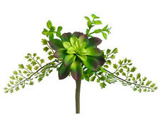"Succulent & Fern ~ 11"" Artificial Plant Pick Greenery Wedding Bouquet Flowers"