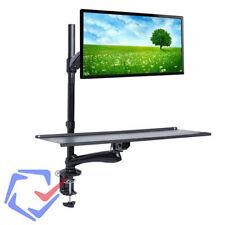 Estación de trabajo de escritorio Ordenador Soporte para monitor teclado Brazo