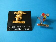 2, 1998 FUJIFILM pin badges. VGC. Enamel & Metal. Arthus Bertrand. Football.