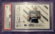 🏉 2018 Panini Contenders School Colors #5 Saquon Barkley Rookie  Card PSA 9 MT