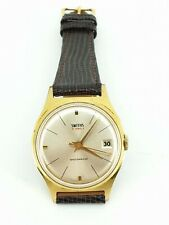 Smiths 21 21J Jewel Gold Plated Shockproof Watch Gents Super Condition. NICE1