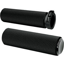 Arlen Ness Black Anodized Knurled Fusion Grips for 1984-2016 Harley Models