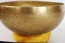"E750 Energetic Solar 'E' Chakra Healing Tibetan Singing Bowl 7.75"" Made in Nepal"