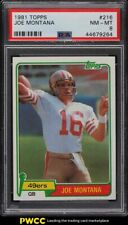 1981 Topps Football Joe Montana ROOKIE RC #216 PSA 8 NM-MT