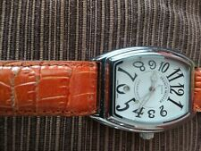 franck muller casablanca 344 with original genuine leather wristband. Pre-owned.