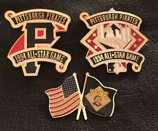 Set~Lot~3~MLB Pittsburgh Pirates Collector Pins~1994 All Star Game~Peter David