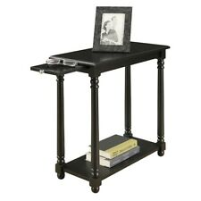 Convenience Concepts French Country Regent End Table, Black - 7103059BL