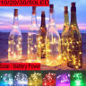 Solar/Battery Power Cork Shaped LED Fairy Wire String Light Wine Bottle Lamp US