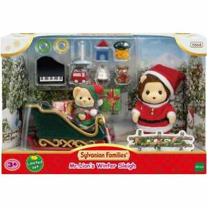 Sylvanian Families Mr Lion's Winter Sleigh 5568 Christmas Sleigh Ride Set