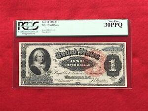 "FR-218 1886 Series $1 Silver Certificate ""Martha Note"" *PCGS 30 PPQ Very Fine*"