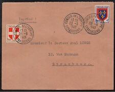 1949 CONSEIL DE L'EUROPE - STRASBOURG / RARE OBLITERATION SUR LETTRE (ref 4067)