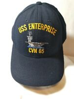 USS Enterprise CVN-65 Embroidered Snapback Baseball Hat