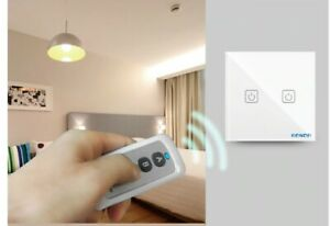 LED light Touch Switch with REMOTE 110V-220V Tempered Glass Panel