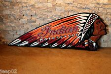 Embossed INDIAN MOTORCYCLE  Chief Harley Scout Vintage Style American Oil