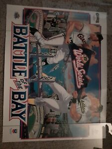 """1989 MLB World Series Battle of the Bay SF Giants vs Oakland A's Poster 17""""×22"""""""