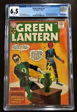 Green Lantern #9 CGC 6.5 White. 1st Sinestro Cover. 1st App Jordon Brothers