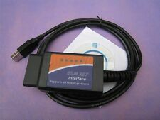 ELM327 OBDII OBD2 CAN-BUS USB Auto Diagnostic Code Scanner Reader Tool Win 10