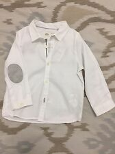 Brand New With Tag Zara Baby Boy 18-24 Months White Button Down Shirt