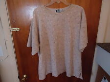 "Womens Bold Spirit Size 2X Floral Top "" GREAT FOR AROUND THE HOUSE,YARD WORK,ETC"