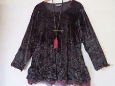 Lagenlook hüftlange Damenblusen, - Tops & -Shirts in Größe 52