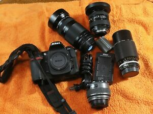Nikon D300 12.3 MP SLR Camera with 4 lenses