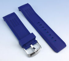 26mm BLUE Silicone Rubber Band WATCH Strap with CURVED Ends