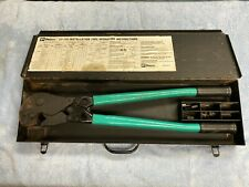 Panduit Ct 720 Compression Manual Crimping Tool With 8 Dies And Metal Case