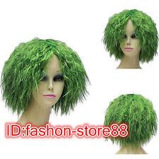 New Men boy Short green wig Cosplay Party Wigs + Free wig cap