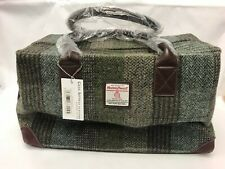 Harris Tweed Overnight Bag Holdall Green Checked