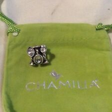 Chamilia Sterling Silver Charm bead - Marquis with Clear Swarovski JC-2A RRP £65