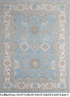 INDIAN HAND KNOTTED 4x6 120x180 OUSHAK PERSIAN ORIENTAL AREA RUG WOOL CARPET