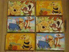 Winnie the Pooh Pocket Facial Tissue Paper Dissolve in Water 6packs TiggerPiglet