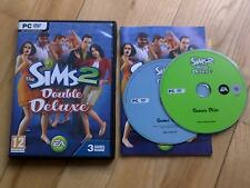 The Sims 2 Double Deluxe PC DVD ROM base game +2 expansion packs included