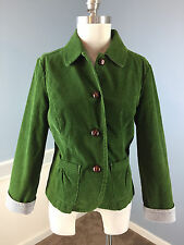 LL Bean Green M 8 10 P Corduroy Blazer Jacket Career Cocktail Excellent cropped