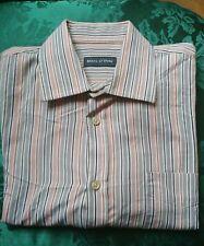 "Mens Marc O' Polo Shirt Blue Orange XXL Chest 48"" Collar 16.5 Long Sleeved"