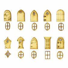 Mini Wooden Fairy doors and windows (10x3cm Doors, 10x2cm Windows) Designs A-K