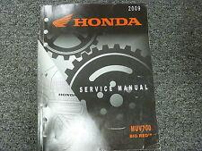 2009 Honda Model MUV700 Big Red ATV Utility Vehicle Shop Service Repair Manual