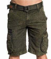 Affliction Black Premium - HAYDEN - Men's Cargo Shorts - NEW - Olive Green