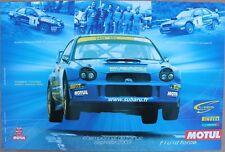 AFFICHE MOTUL SUBARU IMPREZA WRC WRX STI FRANCE CHAMPIONNAT ASPHALTE 2003 huile