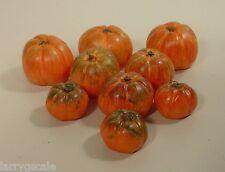 Premium Pumpkins Set (9 Pcs) Custom Miniatures 1/24 Scale G Scl Diorama Items