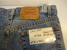 #46  Levi's 555 Relaxed Fit Straight Leg men jean W 31 x 30 L.