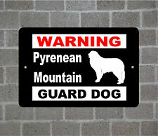 Pyrenean Mountain warning GUARD DOG breed metal aluminum sign