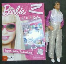 barbie secret fashion finder board game and ken doll plus small barbie wow cool!