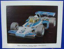 Roger McCluskey 1973 Lindsey Hopkins Buick Ron Burton Lithograph Print Indy 500